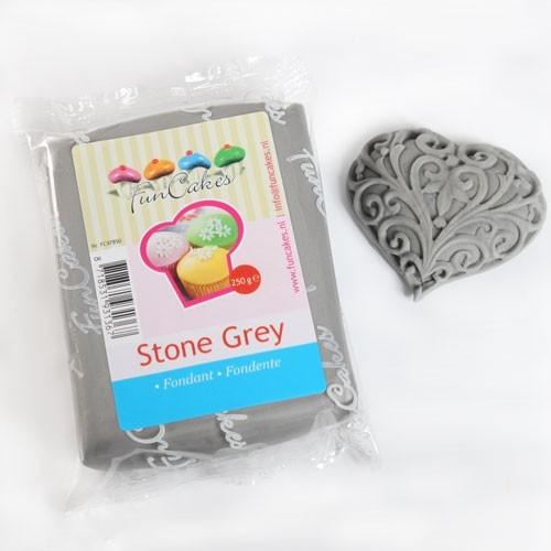 FunCakes potahový fondán Stone Grey - šedý kámen 250g