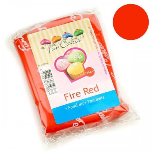 FunCakes potahový fondán Fire Red - červený - 250g