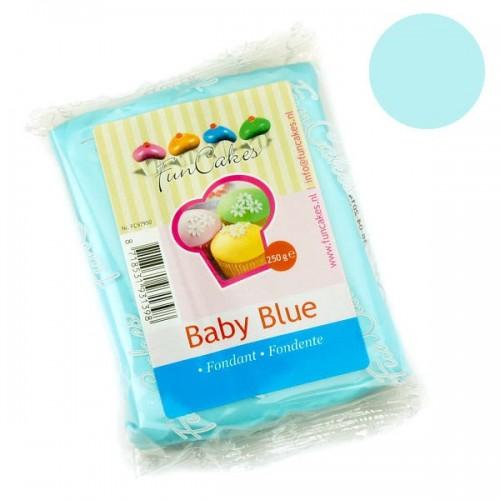 FunCakes potahový fondán Baby Blue - dětská modrá 250g
