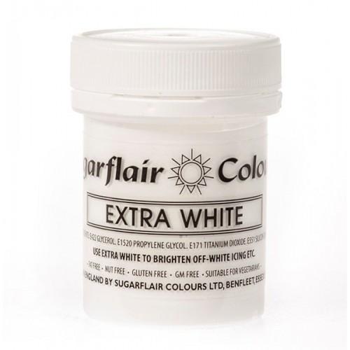 Sugarflair gelová barva - extra bílá 42g