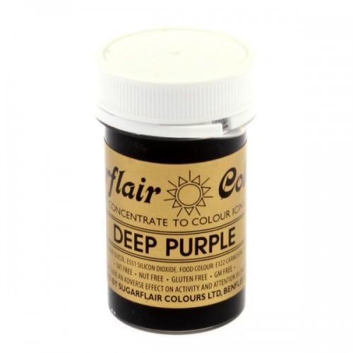 Sugarflair gelová barva - tmavá purpurová - Spectral Deep Purple - 25g