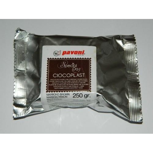 Pavoni - Ciocoplast - modelovací čokoláda hnědá 250g