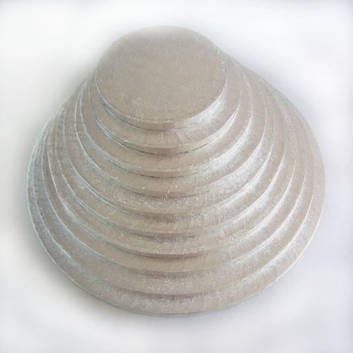 FunCakes  podložka pod dort stříbrná 40cm / 1cm Kulatá
