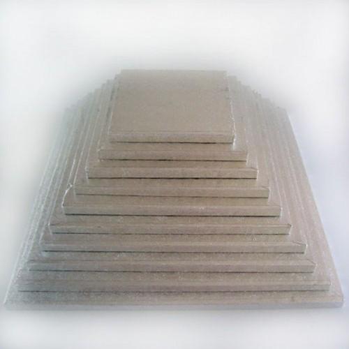 FunCakes  podložka pod dort stříbrná 40cm / 1cm Čtverec