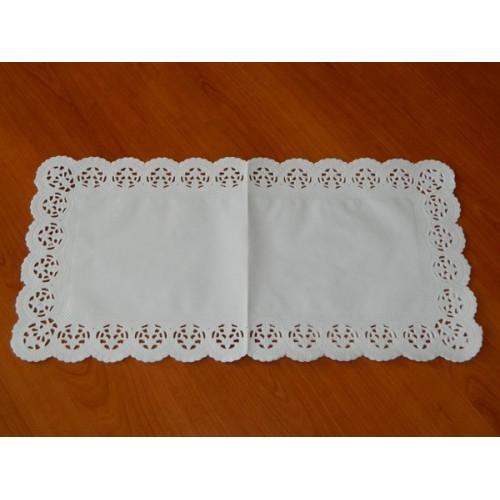 Papírové krajky pod dort - obdélník 20 x 40cm / 6ks