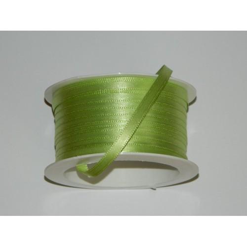 Atlasová stuha - limetková zelená 20m/ 5mm