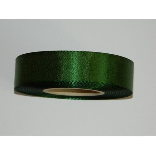 Atlasová stuha - tmavá zelená 20m/ 24mm