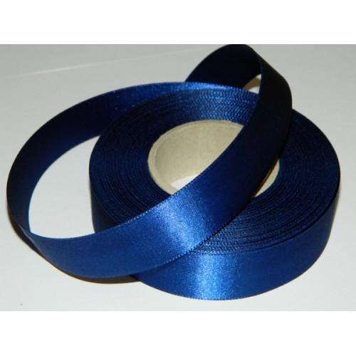 Atlasová stuha - tmavá modrá 20m/ 24mm