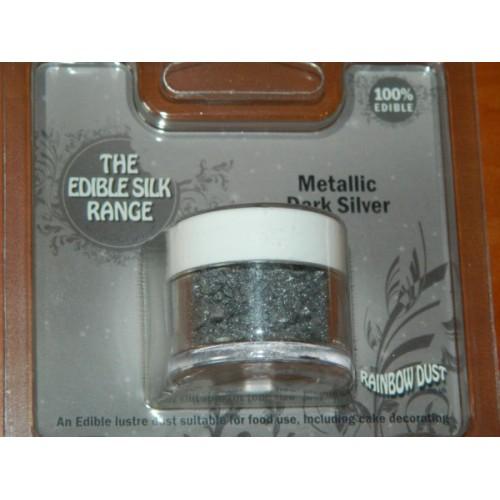 RD Prachová perleťová barva tmavá stříbrná Rainbow - Metallic Dark Silver 3g