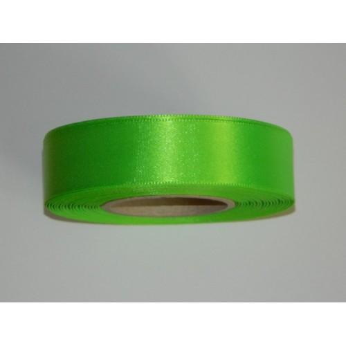 Atlasová stuha - zelená neon 20m/ 24mm