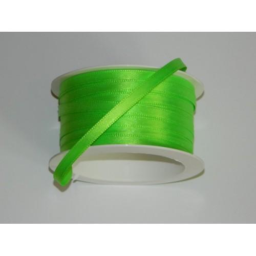 Atlasová stuha - zelená neon 20m/ 5mm