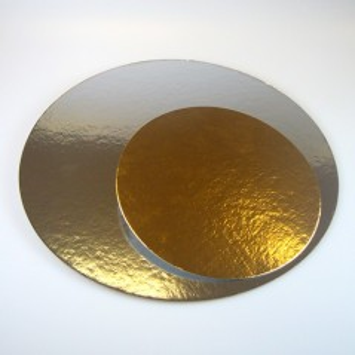 Kulatá podložka pod dort zlatá / stříbrná 35cm
