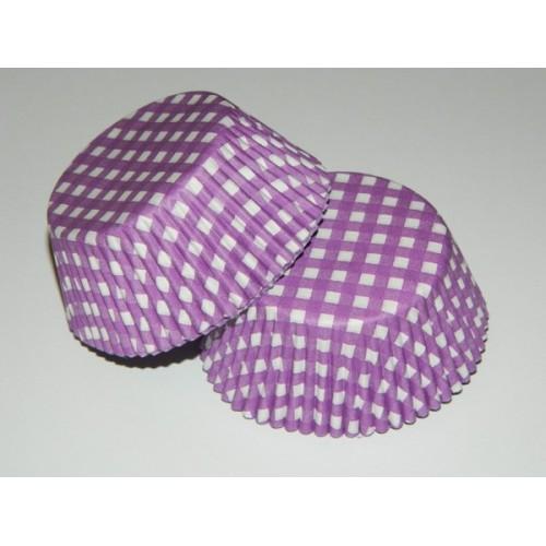 Cukrářské košíčky - Karo fialové - 40ks