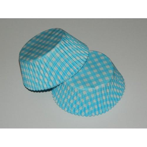 Cukrářské košíčky - Karo modré - 40ks