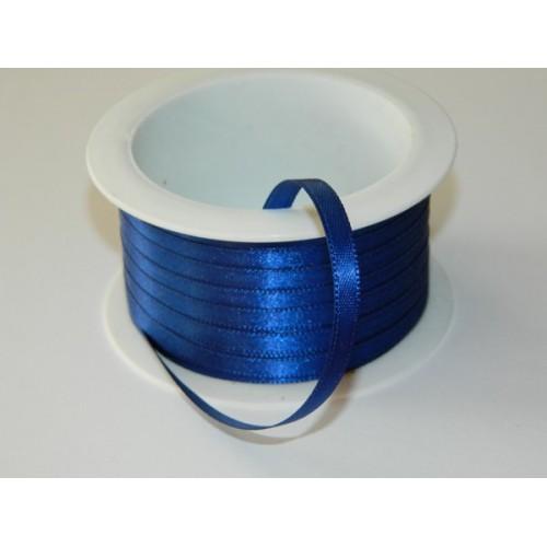 Atlasová stuha - tmavě modrá 20m/ 5mm