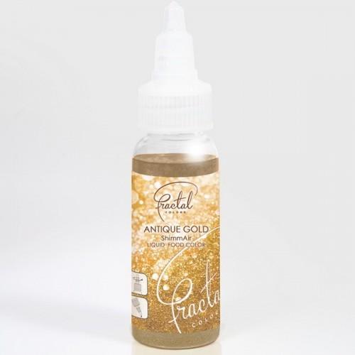 Airbrush perleťová barva tekutá Fractal - Antique Gold (33 g)