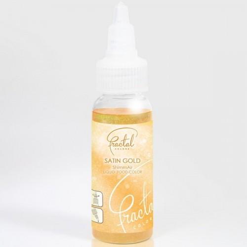 Airbrush perleťová barva tekutá Fractal - Satin Gold (33 g)