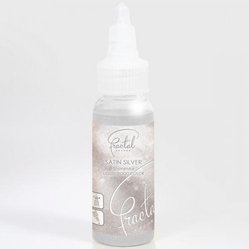 Airbrush perleťová barva tekutá Fractal - Satin Silver (33 g)