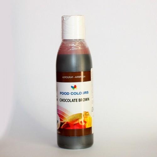 Airbrush barva tekutá Food Colours Chocolate Brown (135 ml) Čokoládová hnědá