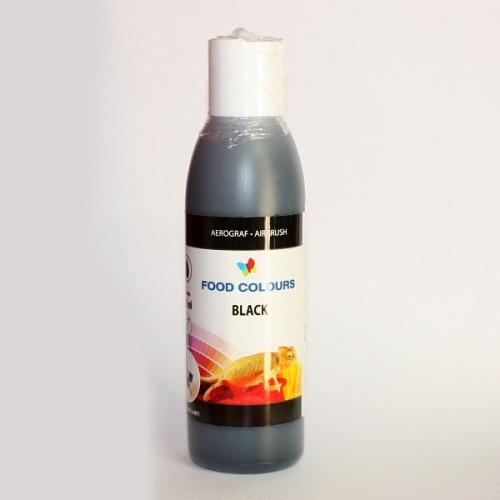 Airbrush barva tekutá Food Colours Black (135 ml) Černá