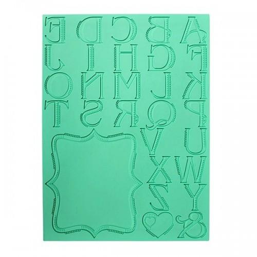 Silikonová šablona na jedlou krajku - Abeceda