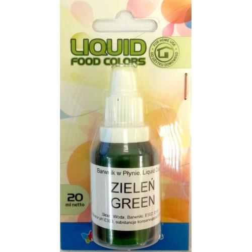 Airbrush barva tekutá Food Colours Green (20 ml) Zelená