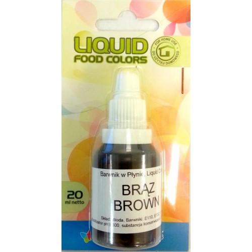 Airbrush barva tekutá Food Colours Brown (20 ml) Hnědá