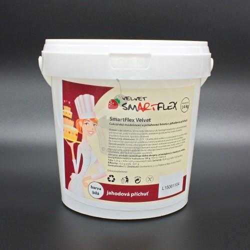 Smartflex velvet jahoda 1,4kg - potahovací hmota
