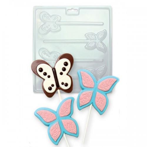 PME Forma na čokoládová lízátka - motýlci