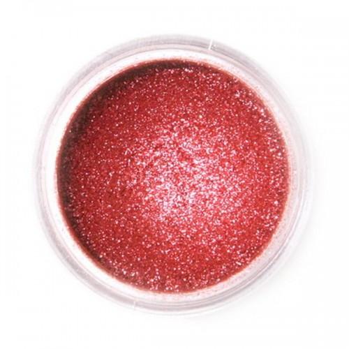 Jedlá prachová perleťová barva Fractal - Sparkling Deep Red, Szikrázó vörös (3,5 g)