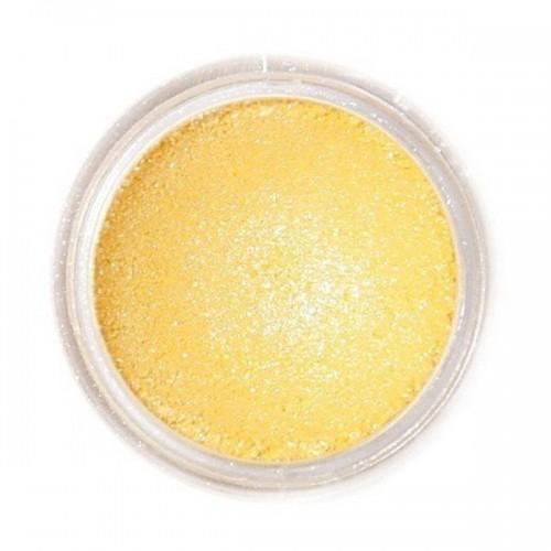Jedlá prachová perleťová barva Fractal - Sparkling Yellow, Szikrázó sárga (2 g)