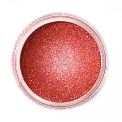 Jedlá prachová perleťová barva Fractal - Red Copper, Izzó vörös (3 g)