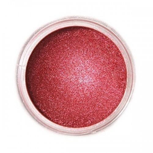 Jedlá prachová perleťová barva Fractal - Ruby, Bíborvörös (3 g)