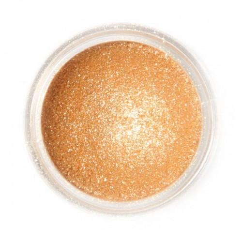 Jedlá prachová perleťová barva Fractal - Sparkling Gold, Szikrázó arany (3,5 g)