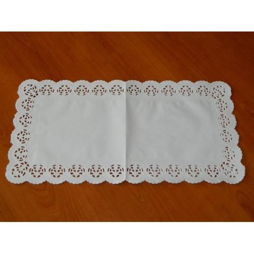 Papírové krajky pod dort - obdélník 25 x 38cm / 6ks