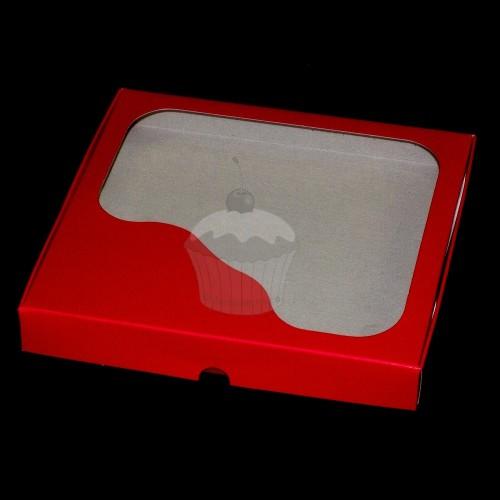 Krabička na cukroví - pevná - červená - 0,5kg