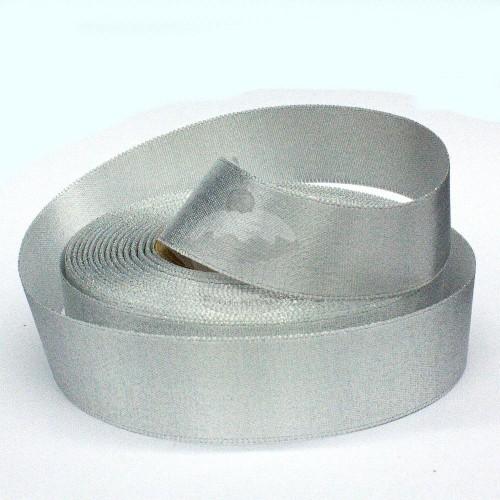 Atlasová stuha - stříbrná - 20m/ 24mm