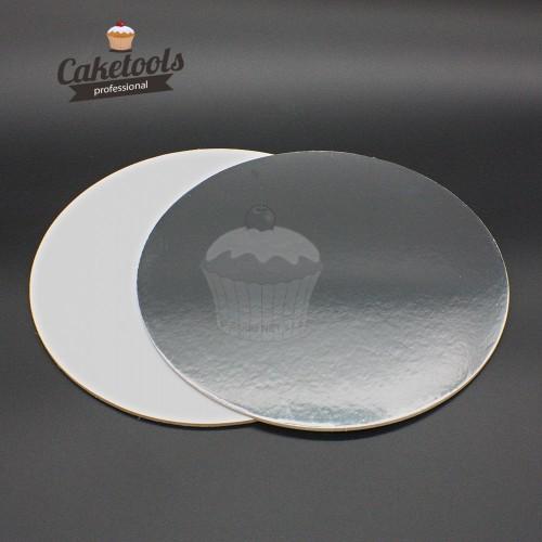 Caketools  podložka pod dort stříbrná 20cm /0,3cm Kulatá