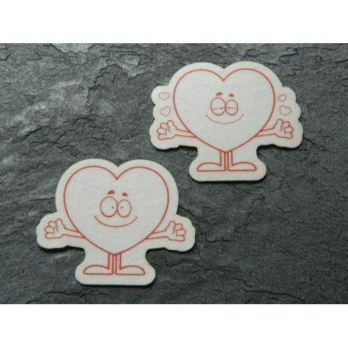 Jedlý papír - zamilovaná srdíčka - 8ks