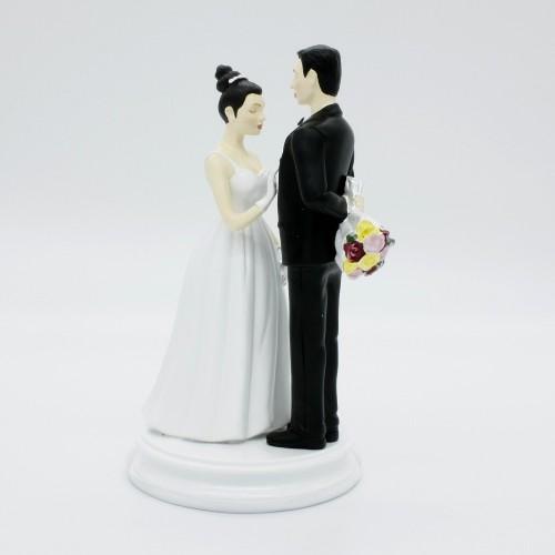 Svatební figurky - s kyticí