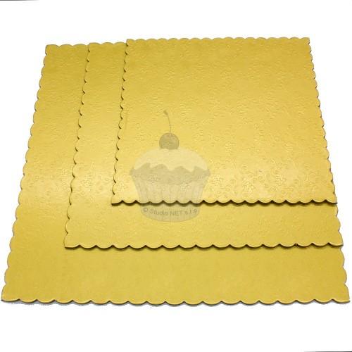 Sada 3ks podložky pod dort zlaté - čtverec