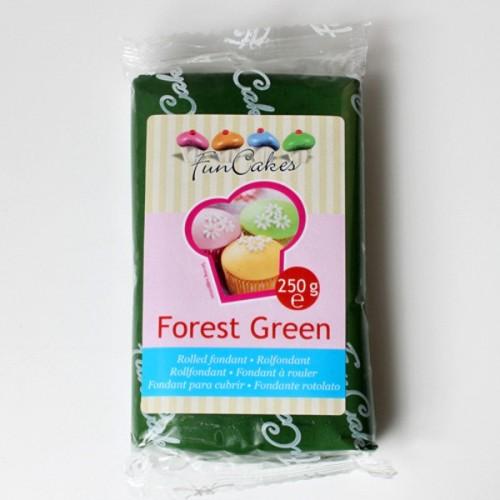 FunCakes potahový fondán forest green - tmavá zelená 250g