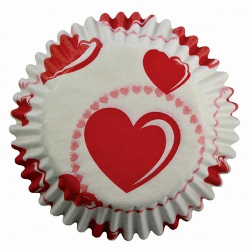 PME cukrářské košíčky - srdce 60ks