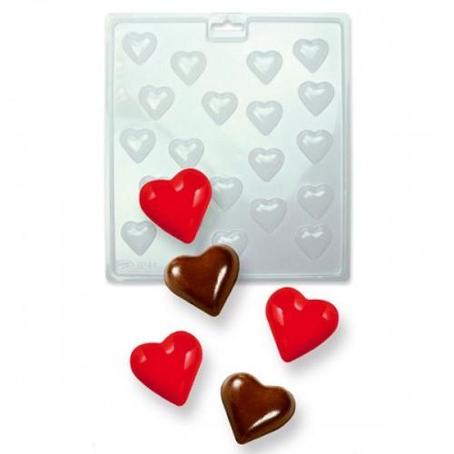 PME Forma na čokoládová lízátka - mini srdce