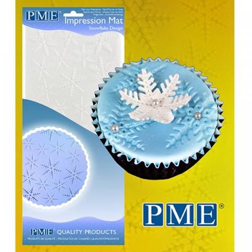 PME Otiskovací podložka Snowflake - sněhové vločky