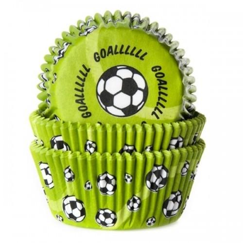 HoM cukrářské košíčky - Fotbal - zelený - 50ks