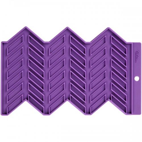 Wilton silikonová podložka - Přesné vzory - rybí kost