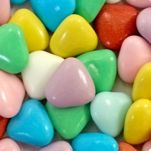 Čokoládová srdíčka - barevná - 50g