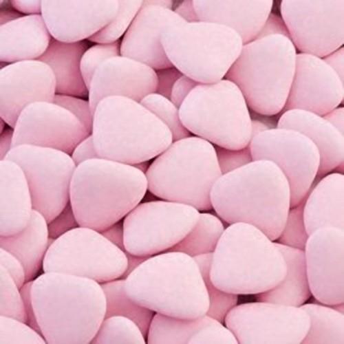 Čokoládová srdíčka - růžová - 50g