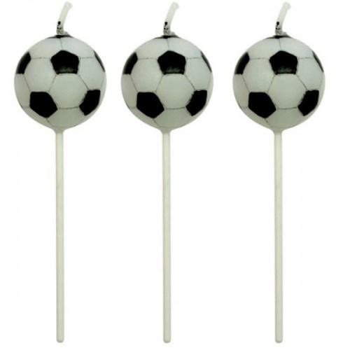 PME dortová svíčka - fotbalový míč - 4ks